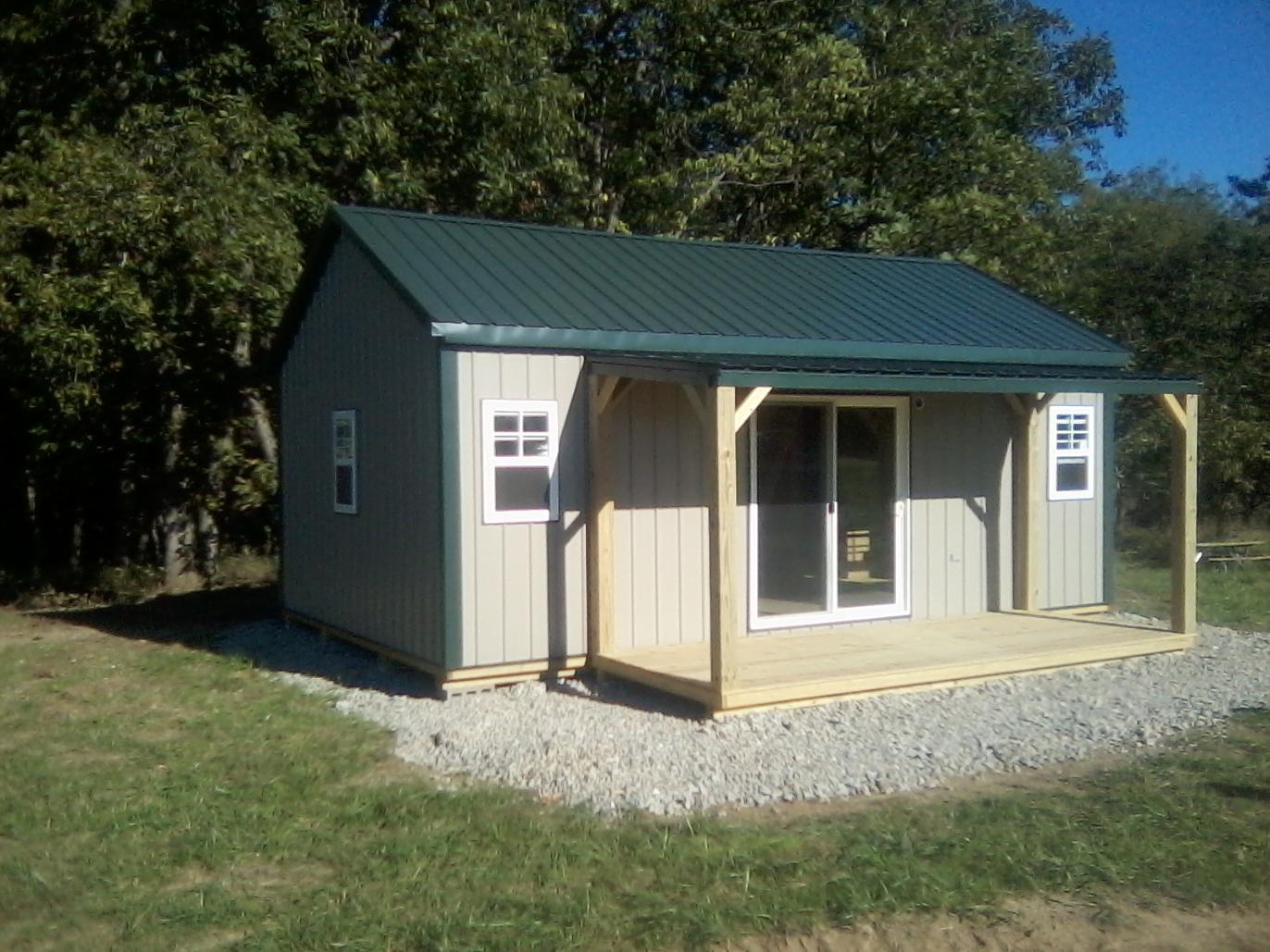 16x28 ozark deluxe cabin sunrise buildings for 8 x 16 cabin plans