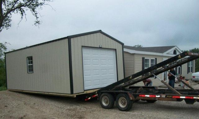 Mobile Garage Trailer : Portable garages sunrise buildings