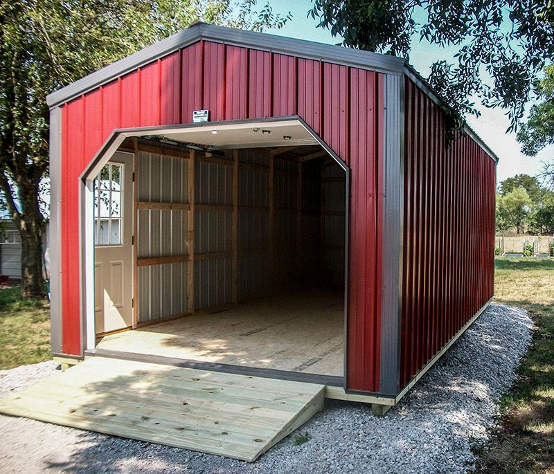Portable Carport With Shed : Portable garages sunrise buildings